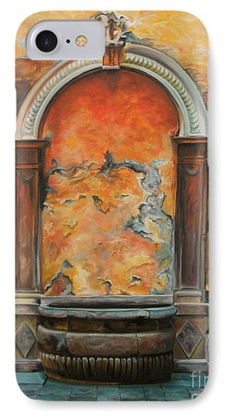 Ancient Italian Fountain Phone Case by Charlotte Blanchard