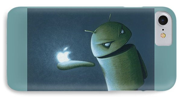 Android Vs Apple IPhone Case by Jasper Oostland