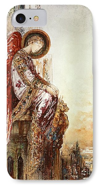 Angel Traveller IPhone Case by Gustave Moreau