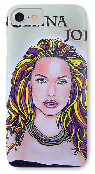 Angelina Jolie IPhone Case by Mary Sperling