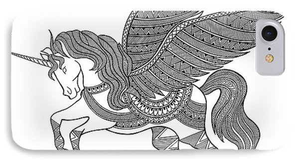 Animal Unicorn IPhone 7 Case by Neeti Goswami