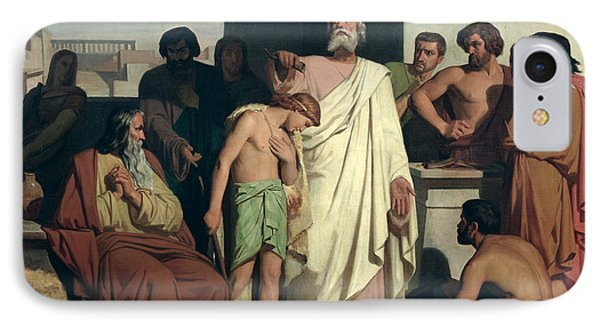 Annointing Of David By Saul IPhone Case by Felix-Joseph Barrias