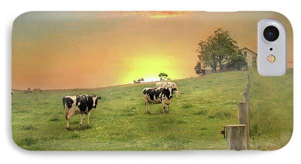 Annville Cows IPhone Case by Lori Deiter