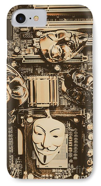 Anonymous Cyber Masks IPhone Case by Jorgo Photography - Wall Art Gallery