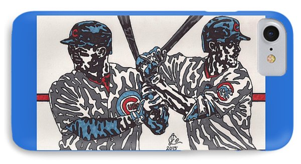 Anthony Rizzo And Chris Bryant IPhone Case by Jeremiah Colley