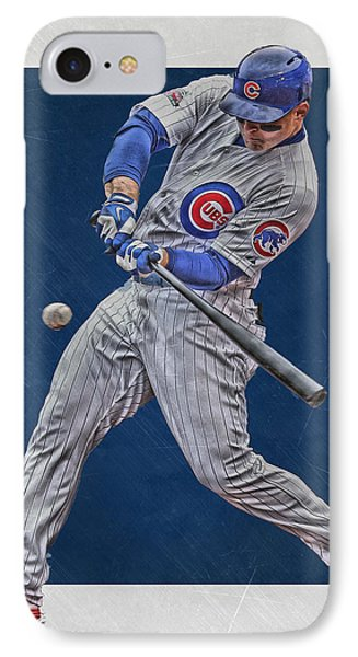 Anthony Rizzo Chicago Cubs Art 1 IPhone Case by Joe Hamilton