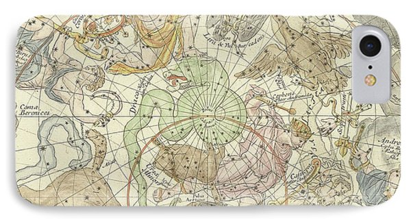 Antique Celestial Map IPhone Case by Carel Allard