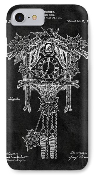 Antique Cuckoo Clock Patent IPhone Case by Dan Sproul