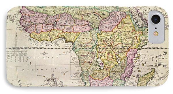 Antique Map Of Africa IPhone 7 Case by Pieter Schenk