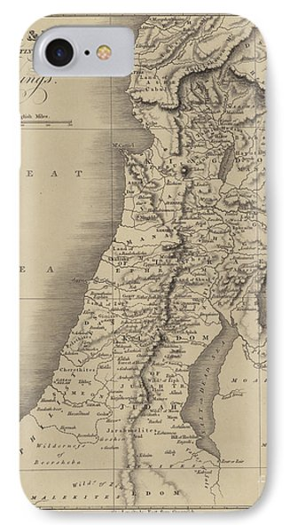 Antique Map Of Judah And Israel IPhone Case by English School