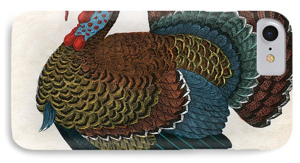 Antique Print Of A Turkey, 1859  IPhone 7 Case by American School
