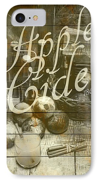 Apple Cider Sign Printed On Rustic Wood Planks IPhone Case by Jorgo Photography - Wall Art Gallery