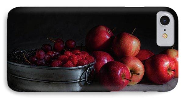 Apples And Berries Panoramic IPhone 7 Case by Tom Mc Nemar