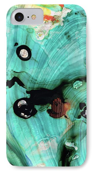 Aqua Teal Art - Volley - Sharon Cummings IPhone Case by Sharon Cummings