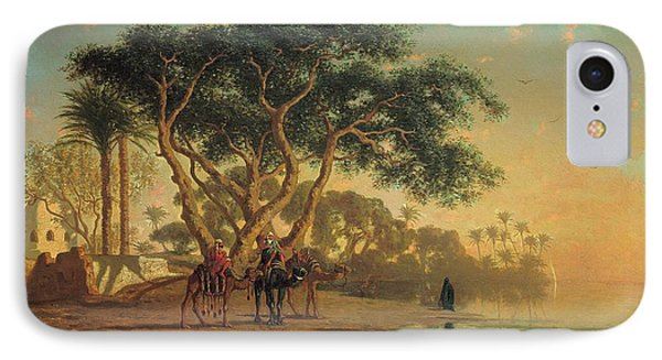 Arab Oasis IPhone Case by Narcisse Berchere