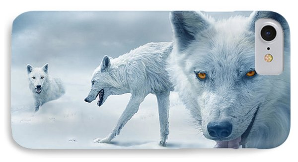 Arctic Wolves IPhone Case by Mal Bray