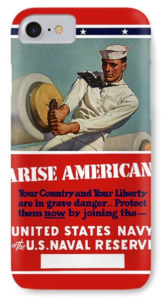 Arise Americans Join The Navy  Phone Case by War Is Hell Store
