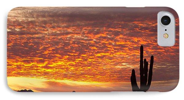 Arizona November Sunrise With Saguaro   IPhone 7 Case by James BO  Insogna