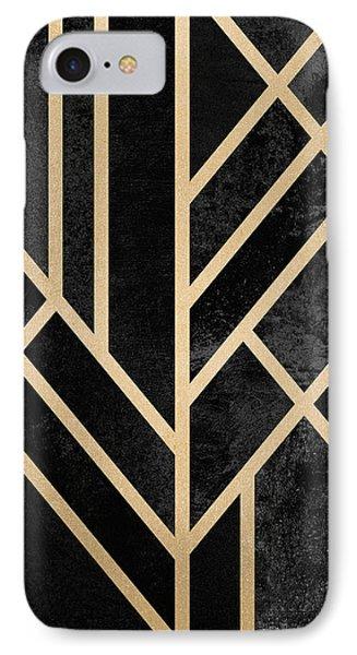 Art Deco Black IPhone Case by Elisabeth Fredriksson