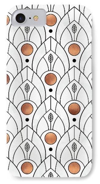 Art Deco Leaves 1 IPhone 7 Case by Elisabeth Fredriksson