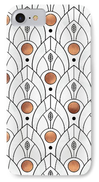 Art Deco Leaves 1 IPhone Case by Elisabeth Fredriksson
