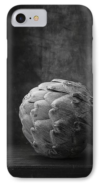 Artichoke Black And White Still Life IPhone 7 Case by Edward Fielding