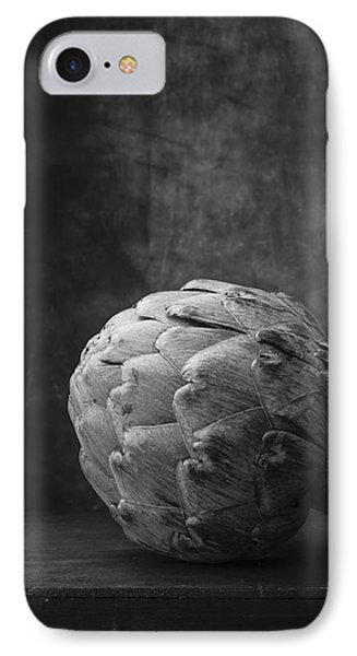 Artichoke Black And White Still Life IPhone Case by Edward Fielding