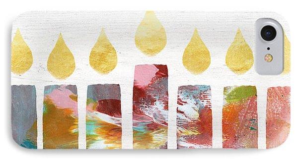 Artists Menorah- Art By Linda Woods IPhone Case by Linda Woods