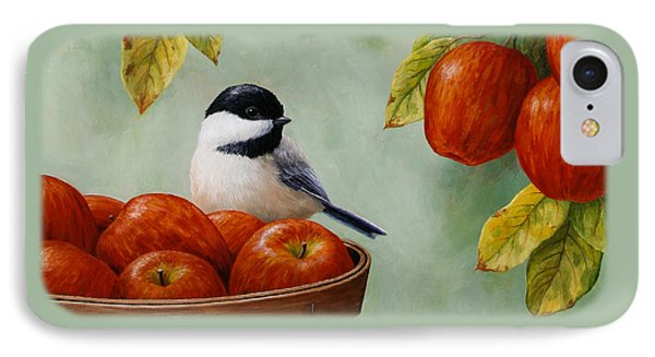 Apple Chickadee Greeting Card 1 IPhone 7 Case by Crista Forest