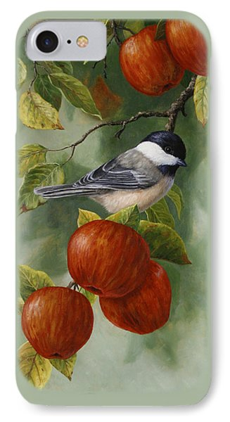 Apple Chickadee Greeting Card 2 IPhone 7 Case by Crista Forest
