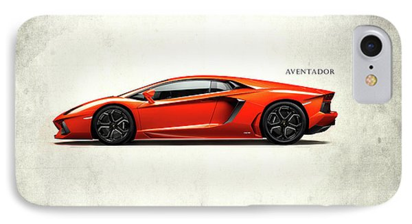 Lamborghini Aventador IPhone 7 Case by Mark Rogan