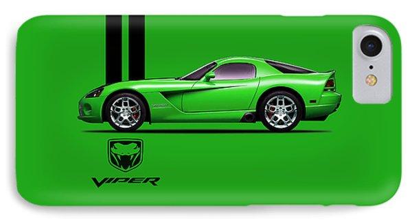 Dodge Viper Snake Green IPhone 7 Case by Mark Rogan