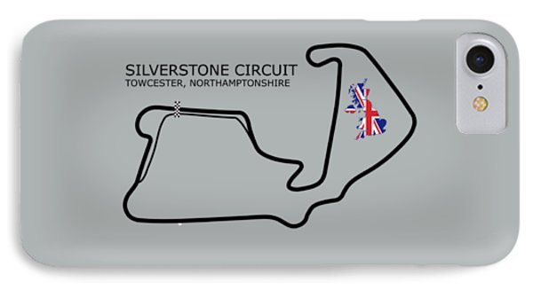 Silverstone Circuit IPhone Case by Mark Rogan