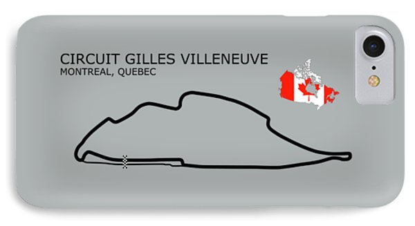 Circuit Gilles Villeneuve IPhone Case by Mark Rogan