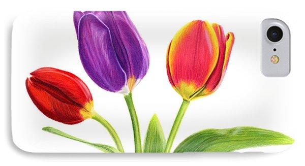 Tulip Trio IPhone Case by Sarah Batalka