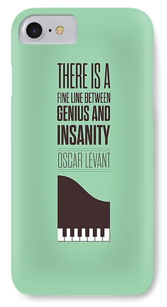 Oscar Levant Inspirational Typography Quotes Poster IPhone Case by Lab No 4 - The Quotography Department