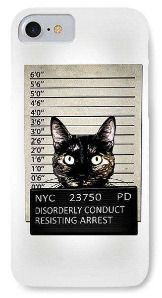 Kitty Mugshot IPhone Case by Nicklas Gustafsson