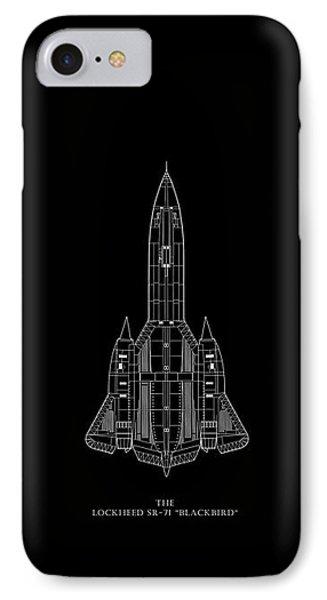 The Lockheed Sr-71 Blackbird IPhone Case by Mark Rogan