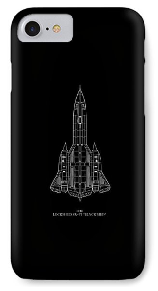The Lockheed Sr-71 Blackbird IPhone 7 Case by Mark Rogan