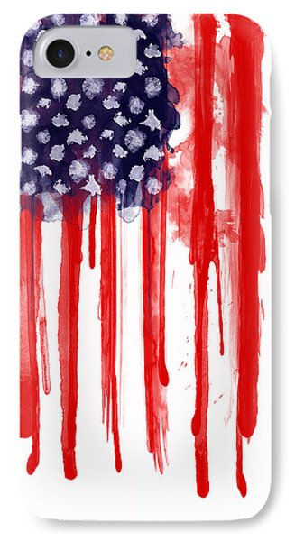 American Spatter Flag IPhone Case by Nicklas Gustafsson