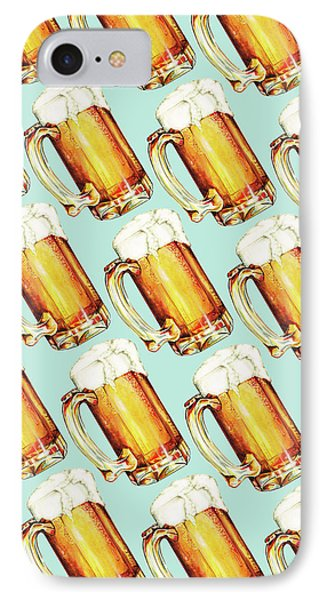 Beer Pattern IPhone 7 Case by Kelly Gilleran