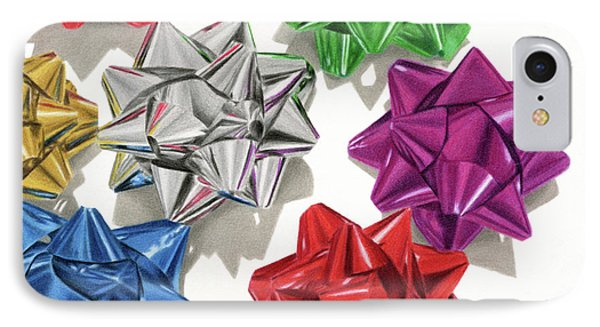 Christmas Bows IPhone Case by Sarah Batalka