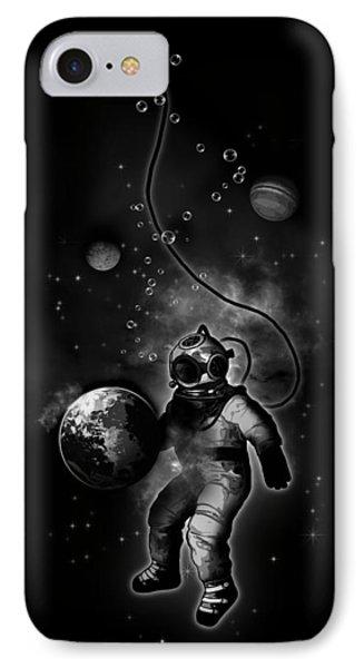 Deep Sea Space Diver IPhone Case by Nicklas Gustafsson