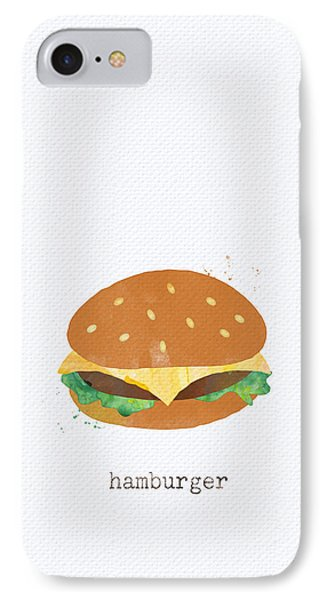 Hamburger IPhone Case by Linda Woods