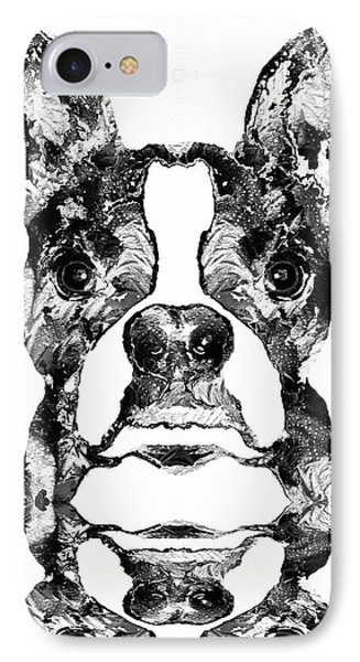 Boston Terrier Dog Black And White Art - Sharon Cummings IPhone Case by Sharon Cummings