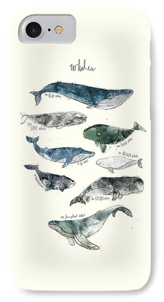 Whales IPhone 7 Case by Amy Hamilton