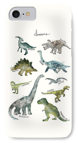 Dinosaurs IPhone Case by Amy Hamilton