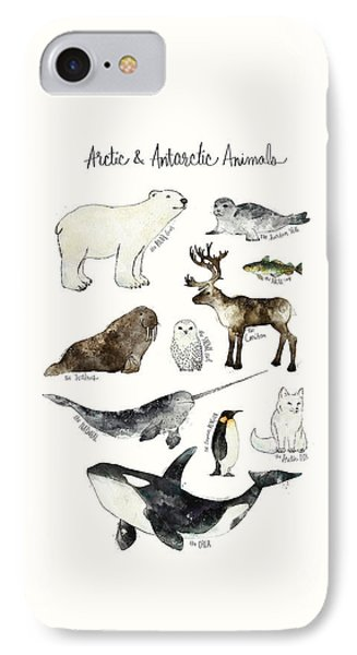 Arctic And Antarctic Animals IPhone 7 Case by Amy Hamilton