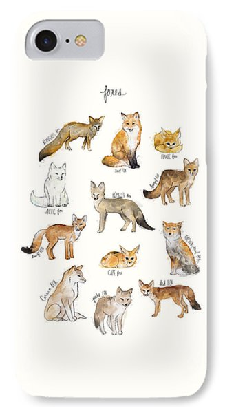 Foxes IPhone 7 Case by Amy Hamilton