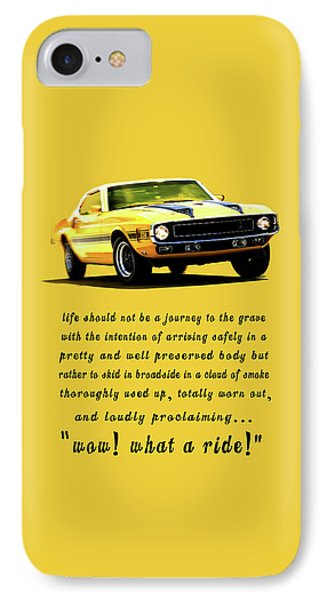 Wow What A Ride IPhone Case by Mark Rogan
